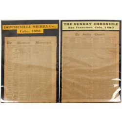 Two California Newspapers  (61225)
