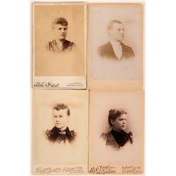 Antique Photographs, San Francisco Cabinet Cards (Lot of 4)  (118161)