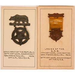 SF Grand Army of the Republic Souvenir Badges for 1903 Convention (117267)