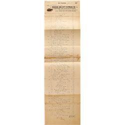 Mission and City Express Company Billhead  (59431)
