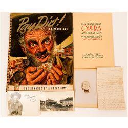 Miscellaneous Americana: Early San Francisco, Photos, Letter  (117336)