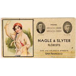 San Francisco Florist Art Blotter from Nagle & Slyter  (118360)
