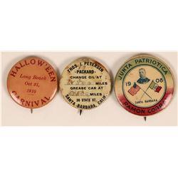 Santa Barbara  Pinback Collection  (119766)