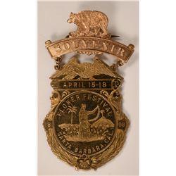 Souvenir Badge Santa Barbara Flower Festival  (119764)