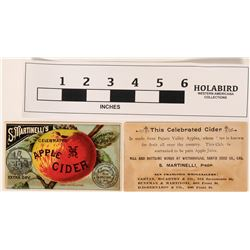 Original Martinelli's Apple Cider Trading Card  (118871)