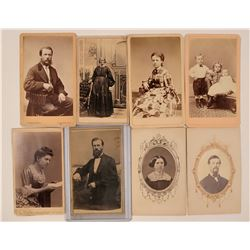 Eight California Resident CDV's  (117317)