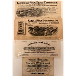 Four Equipment Co. Advertising Coupons, Printers' Proofs  (118081)