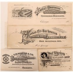 Four Food Advertising Coupons and Business Cards  (118082)