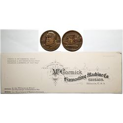 Printers' Proof and Medal from McCormick Harvesting Machine Co.  (118094)
