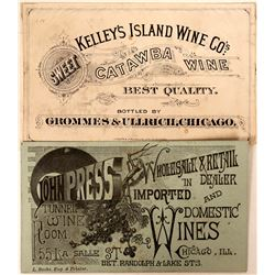 Printers' Proofs Wine Label and Business Card  (118087)
