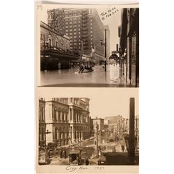 Two Photographs of 1937 Louisville Flood (Ohio River)  (116144)