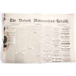 1876 Duluth Newspaper  (63909)