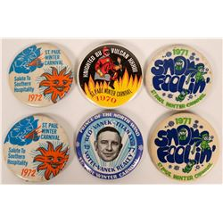 St. Paul Winter Carnival pinbacks   (118013)