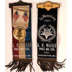 Darlington, MO Grand Army of the Republic (GAR) Badge  (113246)