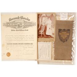 Nebraska Teachers Certs. Diplomas, Cabinet Card  (84404)