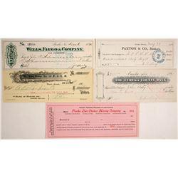 Pioche and Eureka, Nevada Checks  (74486)