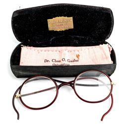 Dr. Charles O Gasho Glasses and Case, Reno, Nevada  (48127)