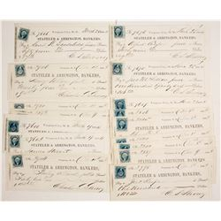 20 Territorial Virginia City, Nevada Checks signed by Charles Strong  (77516)