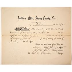 Montgomery Guard Document, Virginia City, Nevada  (77378)