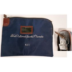 Locking money bag from First National Bank of Nevada  (117084)