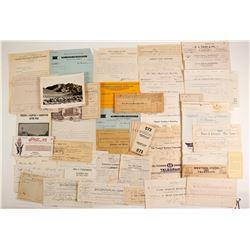 Nevada Billheads, Letters and Ephemera  (89871)