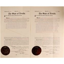 Nevada Governor Carville Signed Docs  (89978)
