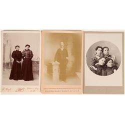 Antique Oklahoma Territory Cabinet Card Photographs (3)  (118163)