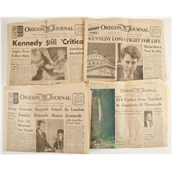 Robert Kennedy Shooting, Oregon Journals Editions (4)  (89849)