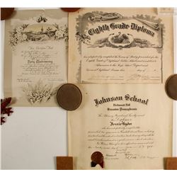 Pennsylvania Early Diplomas & Marriage Certificate  (86814)