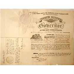 Pennsylvania Justice of Peace Appointment Cert.  (85177)