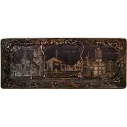 Tray Metal Souvenir Sacramento Sutter's Fort  (117173)