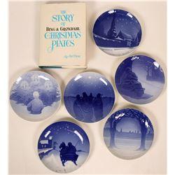1901-1909 B&G Christmas Plates plus Key Reference Work  (116169)