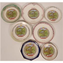7 Old Glory Plates celebrating the Completion of the Panama Canal  (119545)