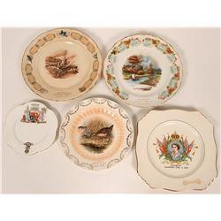 Canadian Souvenir Plates  (119546)