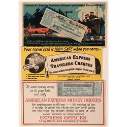American Express Advertising Blotters (3)  (118333)
