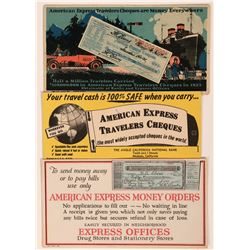 American Express Advertising Blotters (3)  (118333)