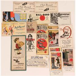 Shoe Advertising Blotters (18)  (118339)