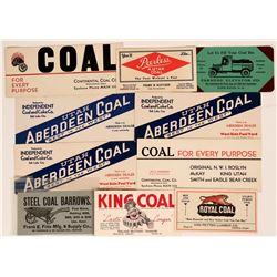 Western Coal Advertising Blotters (10)  (118336)