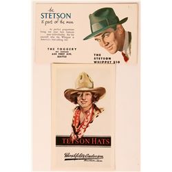 Two Stetson Hat Advertising Blotters  (118304)
