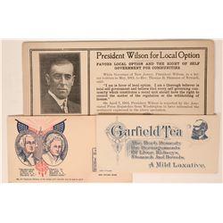 Presidential Advertising Blotters (3)  (118303)