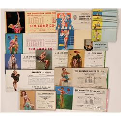Nice Group of Pinup Girl Blotters (20)  (118300)