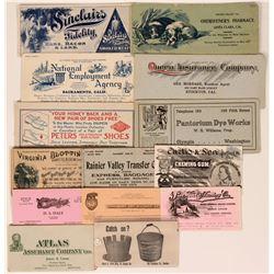 Nice Older Blotters, Most Pre-1900  (118317)