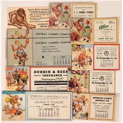 Lawson Wood Monkeying Around Advertising Blotters  (10)  (118329)