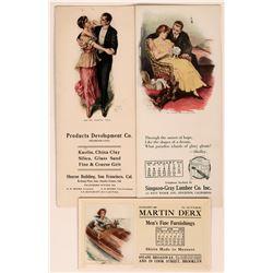 Lester Ralph Art Advertising Blotters (3)  (118346)