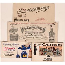 Ink Advertising Blotters (4)  (118338)