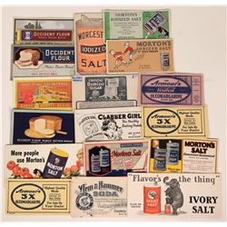 Food Advertising Blotters Include Morton's Salt, Baking Soda & Margarine  (118318)