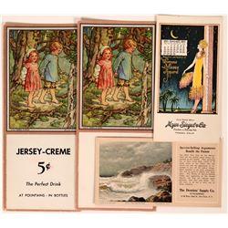 Four Art Blotters Featuring a W.M. Sanford Painting & a Fresno Calendar  (118356)