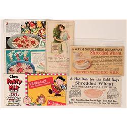 Cereal Advertisement Blotters (6)  (118325)