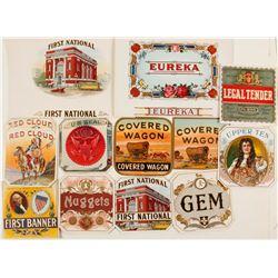 Colorful Cigar Box Labels (12)  (72062)