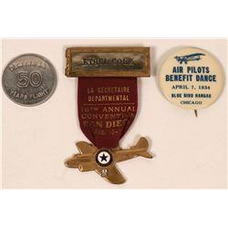 Air Pilots Medal, Pinback, & Token  (118061)
